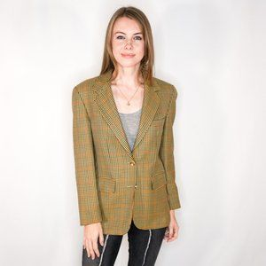 BURBERRY Wool Multicolor Houndstooth Blazer
